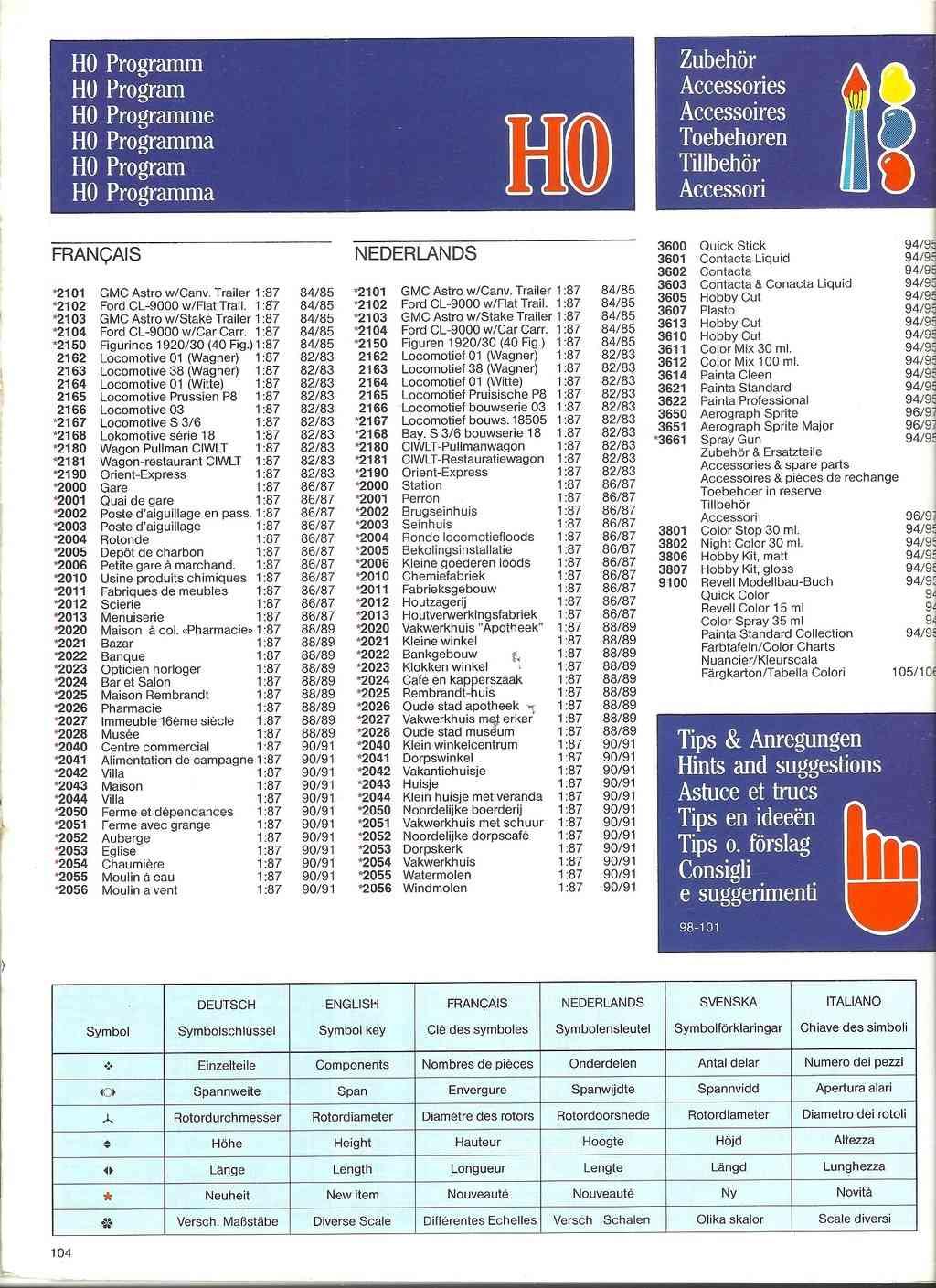 1984 - [REVELL 1984] Catalogue 1984  Revel225