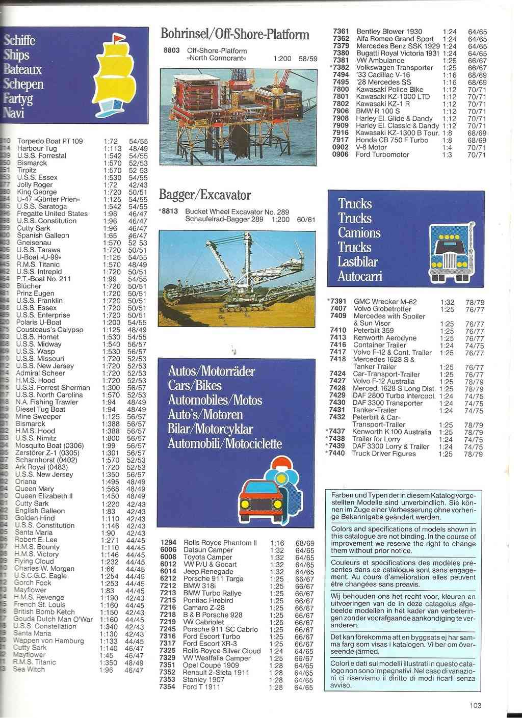 1984 - [REVELL 1984] Catalogue 1984  Revel226
