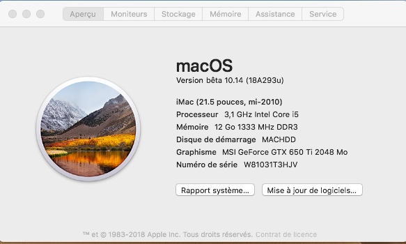 macOS Mojave 10.14 .Beta (Beta1, Beta2, Beta3, Beta4, Beta5, Beta6 . . .) 1150