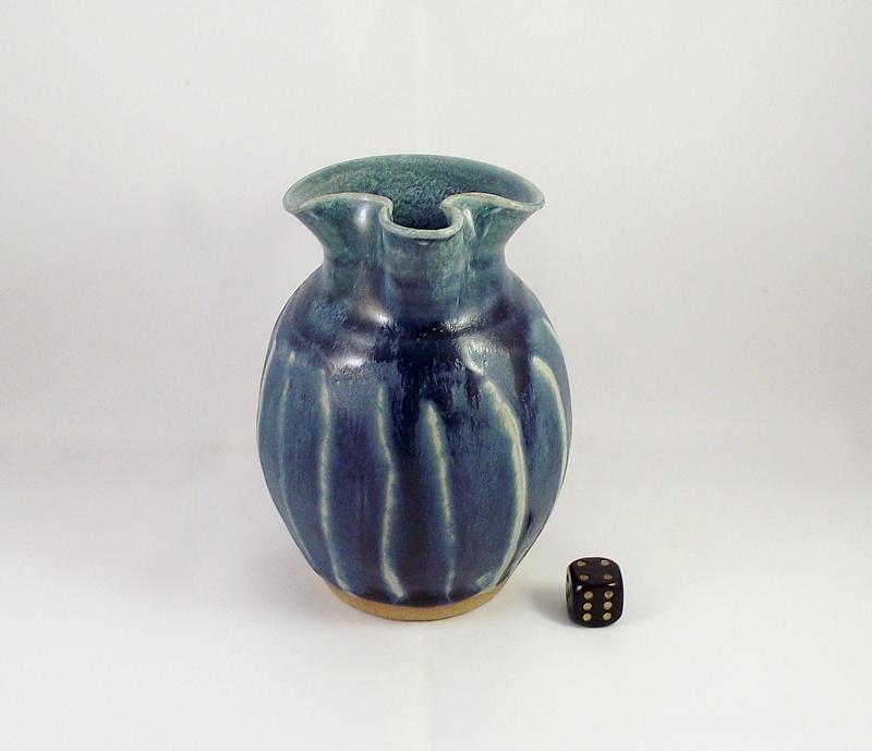 Blue Glazed Jug With Carved Body Dscf7610