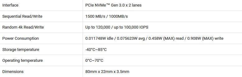 Kingston A1000 NVMe M.2 PCI-Express (video) 160