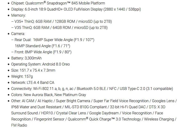 Επίσημο το smartphone LG V35 ThinQ 187