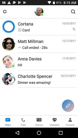 Νέος σχεδιασμός της εφαρμογής Skype για Android συσκευές 1d874410