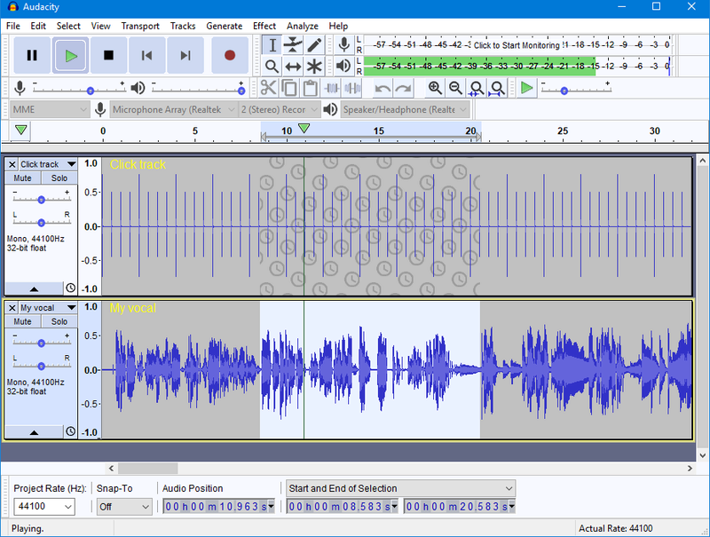 Audacity 2.3.2 - Ηχογράφηση και επεξεργασία ήχου Audaci10