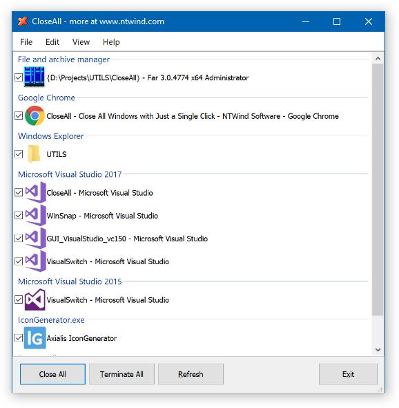 CloseAll 3.1 - Κλείστε όλες τις εφαρμογές στον υπολογιστή σας ταυτόχρονα Closea10
