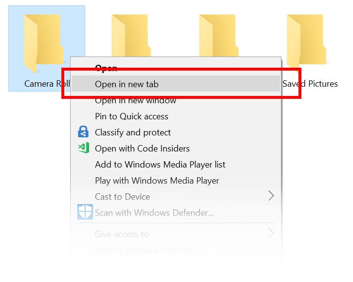 Ο File Explorer των Windows 10 θα υποστηρίζει καρτέλες Tabs-i11