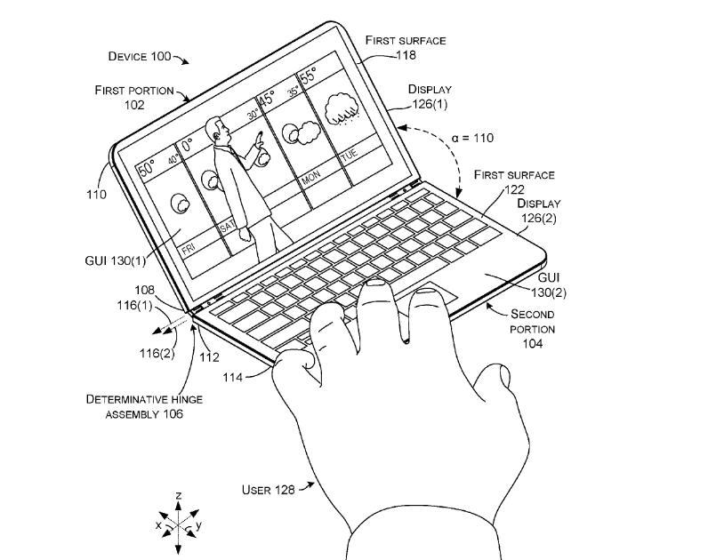 Δίπλωμα ευρεσιτεχνίας δείχνει ένα Surface Phone που μπορεί να γίνει laptop  This-i10