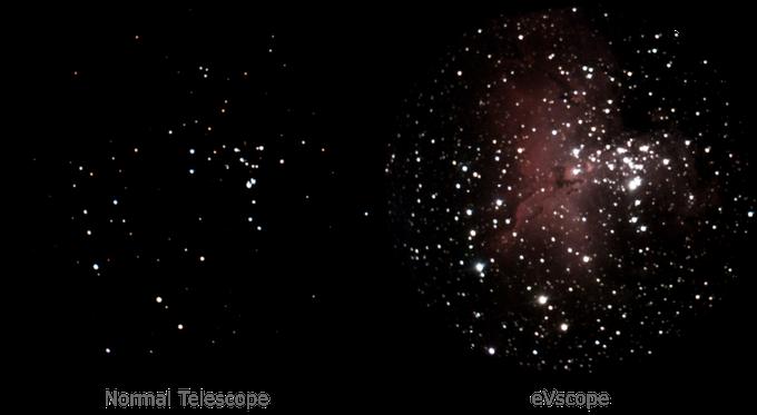 """Το """"έξυπνο"""" τηλεσκόπιο eVscope είναι 100 φορές πιο ισχυρό από ένα κλασσικό τηλεσκόπιο  View10"""