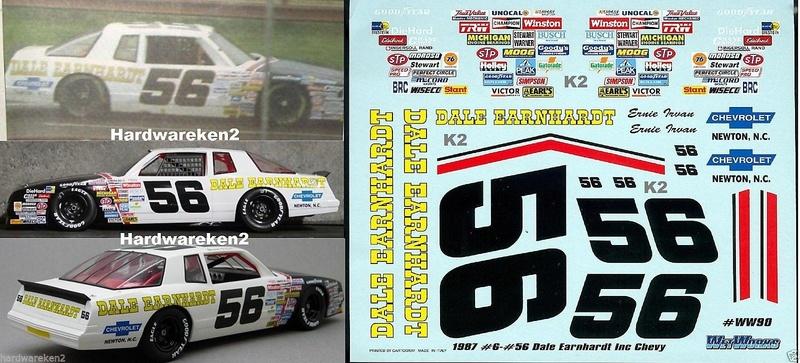 Chevy Aero Coupe 1987 #56 Ernie Irvan DEI  Nascar11
