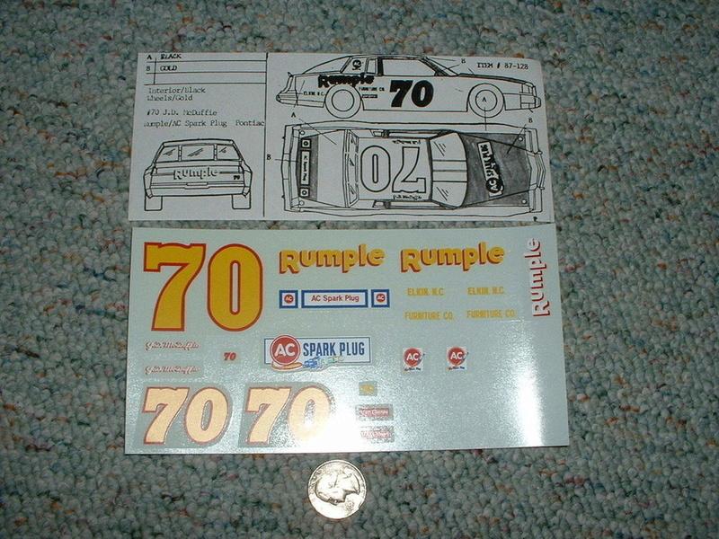 Pontiac Grandprix 81-85 #70 J.D. Mcduffie  S-l10010