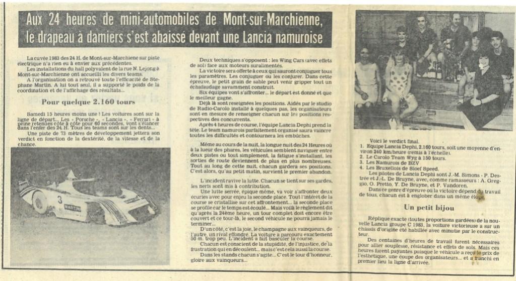 24 heures de Mont Sur Marchienne 1983 Destre10