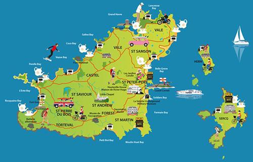 L'île de Guernesey, aussi normande que britannique Carte-12