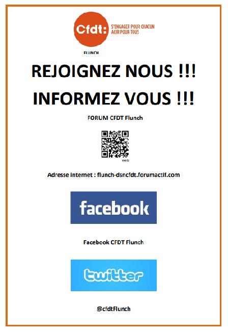Affichage des panneaux syndicaux C.F.D.T FLUNCH région parisienne  Reseau10