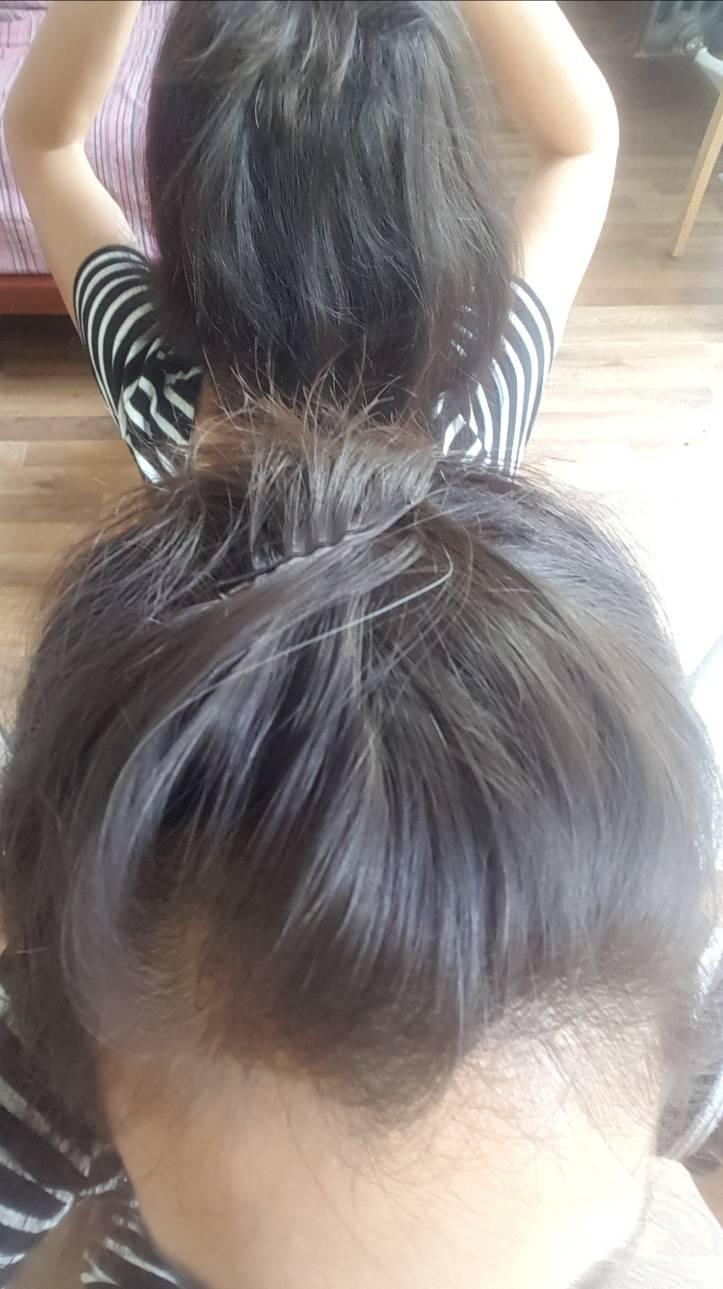 Come peinar una parcial femenina  si tienes tus cabellos aun en el frontal. Partia10