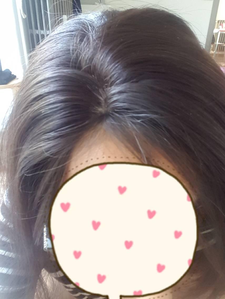 Come peinar una parcial femenina  si tienes tus cabellos aun en el frontal. Partt10