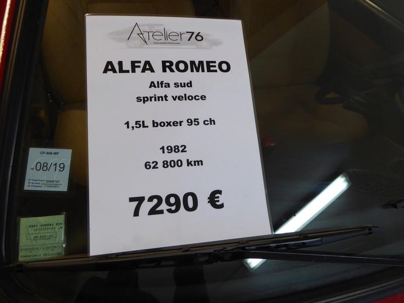 Alfasud Sprint 100% restaurée à vendre !  P1040910
