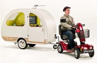 QTvan: Camping Out in World's Smallest Scooter Caravan Qtvan10