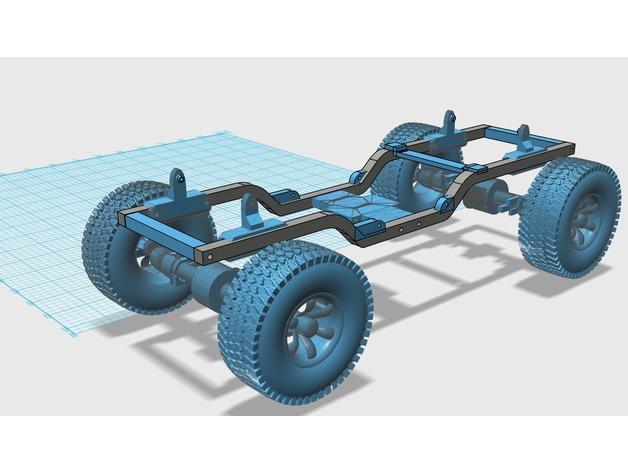 Chassis de HSP Kulak 3D 1/16 1/18 pour Scale et Crawler 010