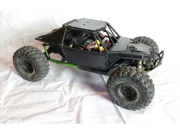 Carrosserie 3D Axial Yeti 4x4 en panneaux Scale et Crawler 1/10 012
