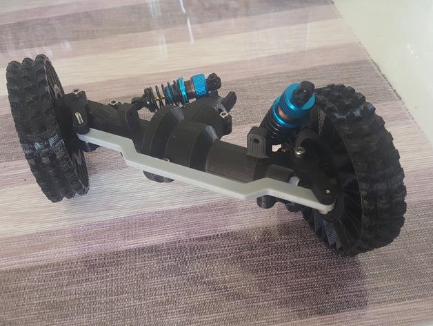 Ponts de Transmission 3D et Coque de Pont pour Scale et Crawler 1/10 017