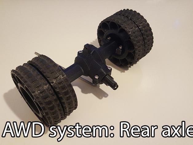 Ponts de Transmission 3D et Coque de Pont pour Scale et Crawler 1/10 018