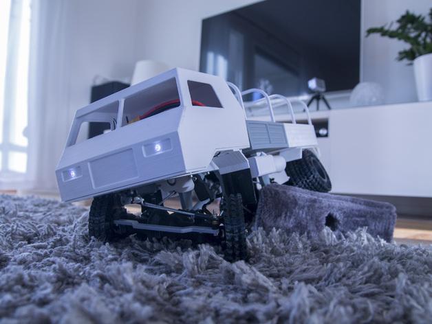 Impression 3D Engin Complet en Entier Camion 4x4 ou 6x6 Scale et Crawler 019