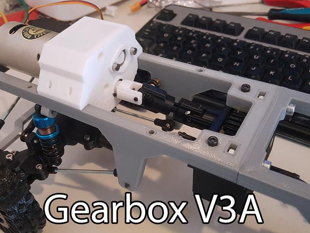 Boite de Transmission 3D Complète pour Scale et Crawler 020