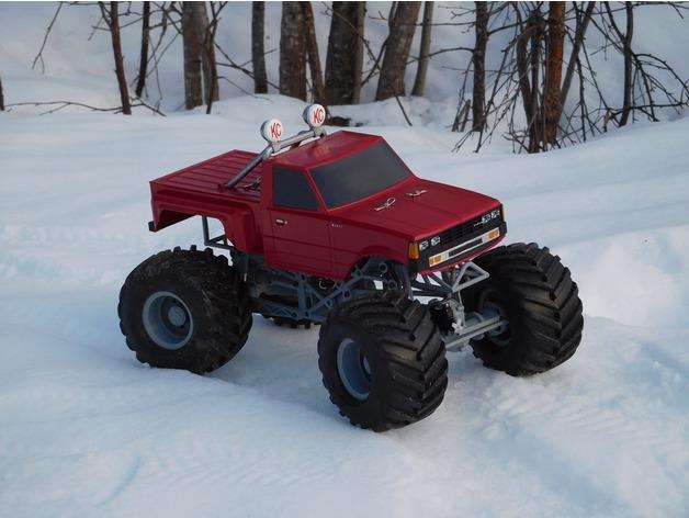 Impression 3D Engin Complet Monster Truck 025