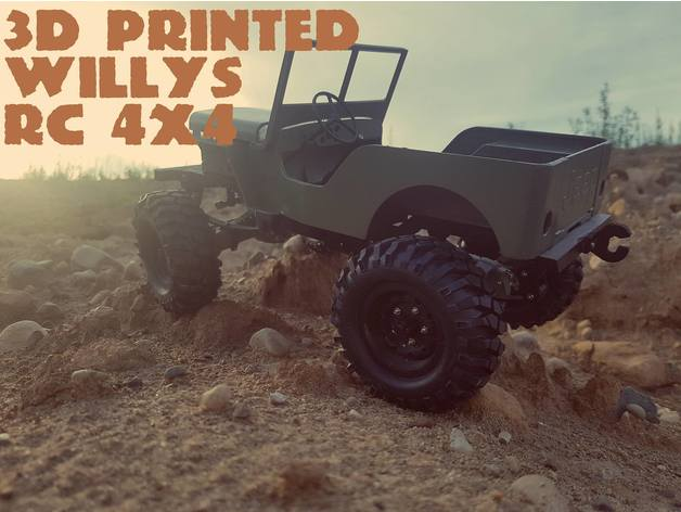 Impression 3D Engin Jeep Willys 4x4 Complet 032