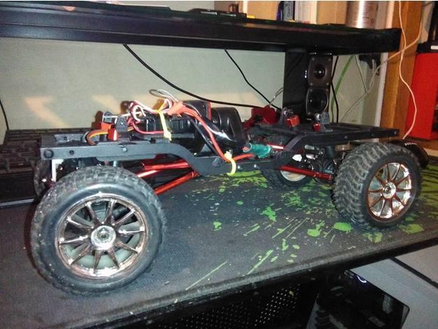 Chassis de HSP Kulak 3D 1/16 1/18 pour Scale et Crawler 111