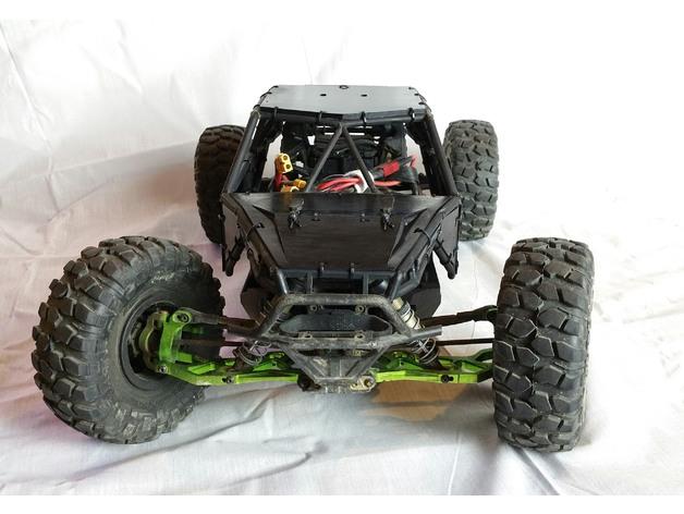 Carrosserie 3D Axial Yeti 4x4 en panneaux Scale et Crawler 1/10 113