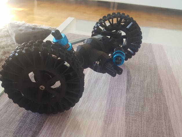 Ponts de Transmission 3D et Coque de Pont pour Scale et Crawler 1/10 117