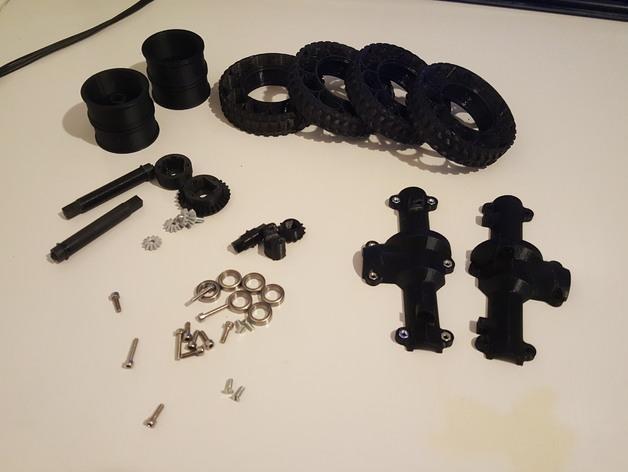 Ponts de Transmission 3D et Coque de Pont pour Scale et Crawler 1/10 118