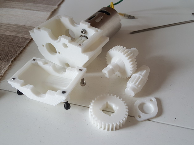 Boite de Transmission 3D Complète pour Scale et Crawler 120