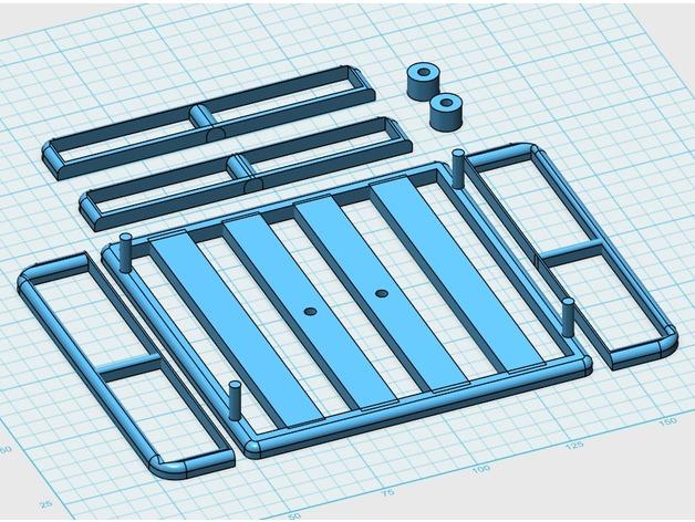 Galerie de toit 3D et Porte Bagage 3D pour Scale et Crawler 1/10 122