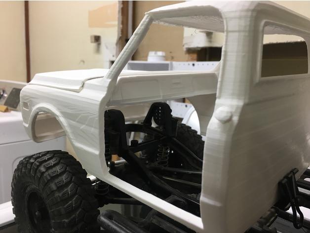 Carrosserie 3D GMC 1969 4x4 pour Scx10 et tout Scale et Crawler 1/10 130