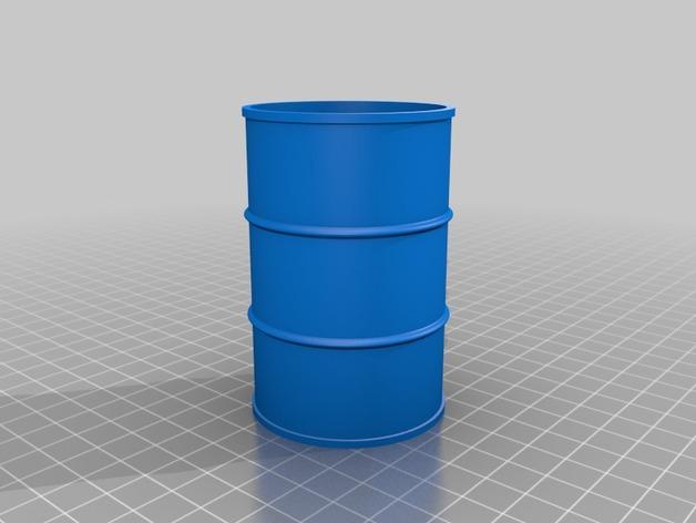 Tonneau 3D et Barrique 3D pour Scale et Crawler 1/10 1b10