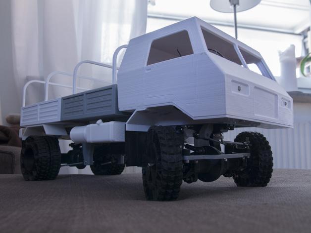 Impression 3D Engin Complet en Entier Camion 4x4 ou 6x6 Scale et Crawler 212