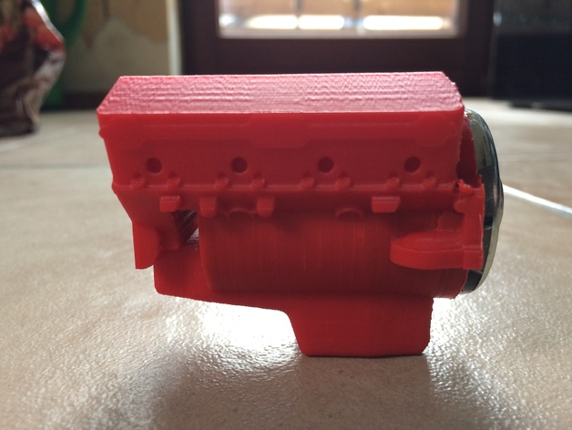 Bloc Moteur V8 et Moteur Cylindrique pour Scale et Crawler 1/10 214