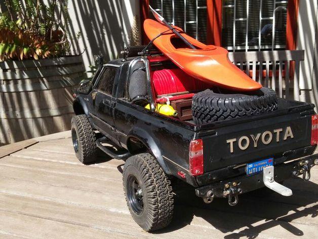 Kayak 3D avec rame pour Scale et Crawler 1/10 215