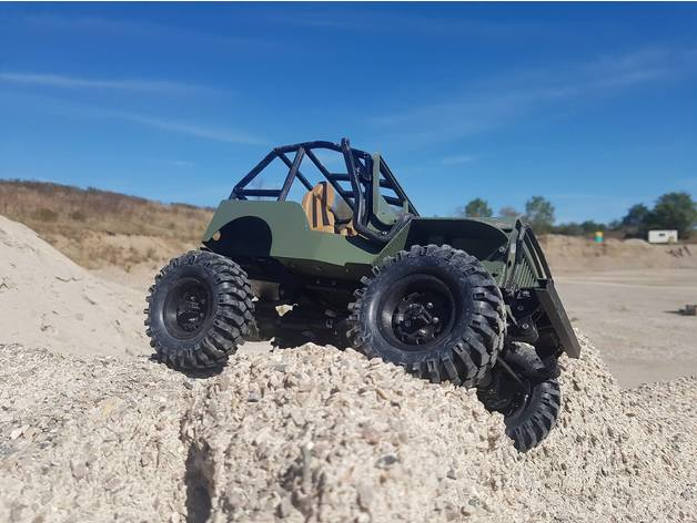 Impression 3D Engin Jeep Willys 4x4 Complet 216