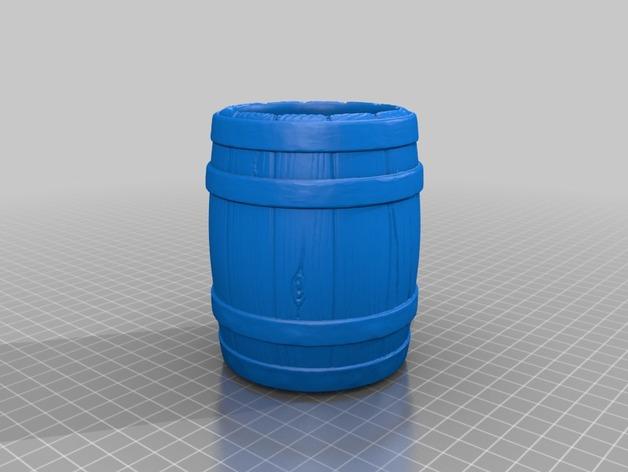 Tonneau 3D et Barrique 3D pour Scale et Crawler 1/10 2b10