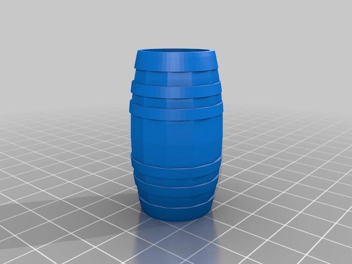 Tonneau 3D et Barrique 3D pour Scale et Crawler 1/10 3b10
