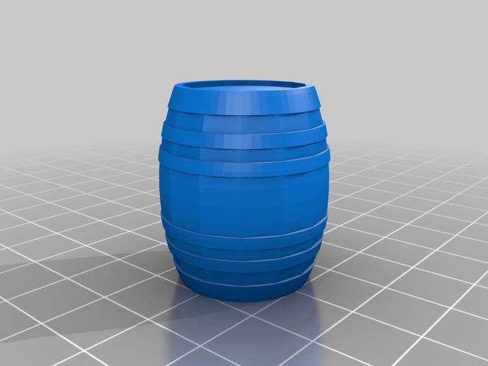 Tonneau 3D et Barrique 3D pour Scale et Crawler 1/10 3d10
