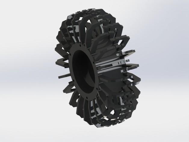 Pneu 3D mou pour Scale et Crawler 1/10 3dp_cr10