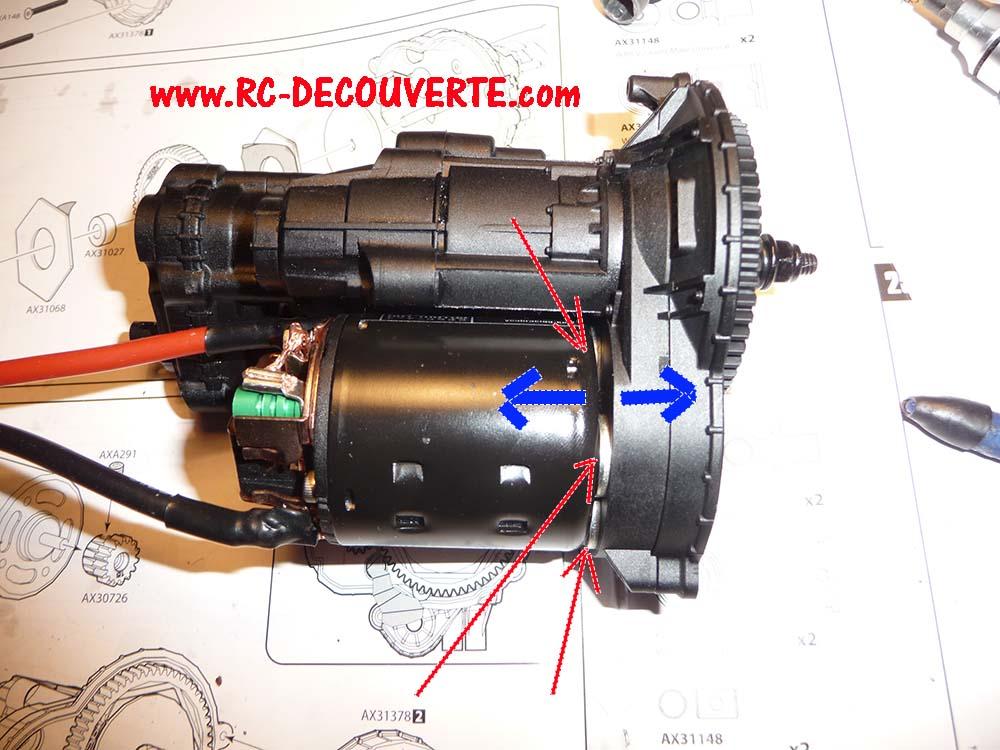 Ajouter 2eme vitesse sur boite transmission scx10 II Jeep Cherokee AX90046 4-tran17