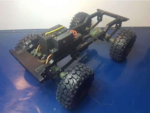 Impression 3D Engin Jeep Willys 4x4 Complet 411