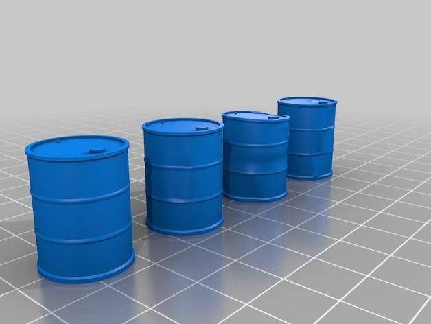 Tonneau 3D et Barrique 3D pour Scale et Crawler 1/10 5a10