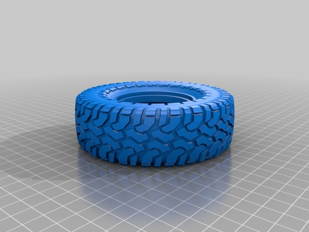 Pneu 1.9 en 3D et Jante Beadlock 1.9 en 3D pour Scale et Crawler 1/10 66430410