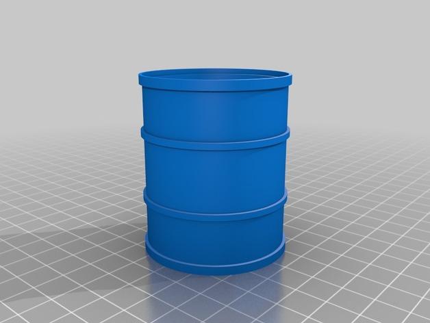 Tonneau 3D et Barrique 3D pour Scale et Crawler 1/10 6a10